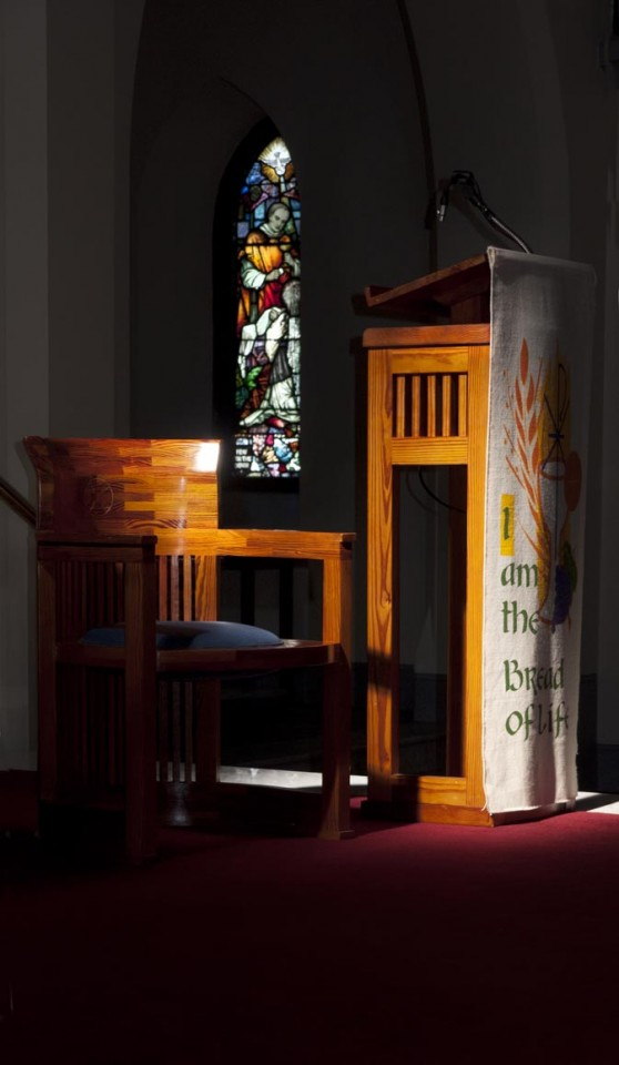 Altar seat and lectern