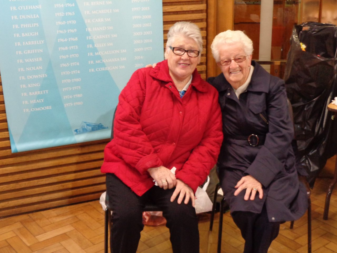 Teresa Doyle and Frances Foley at Fr. Cormac's Farewell Mass on 22nd October 2017