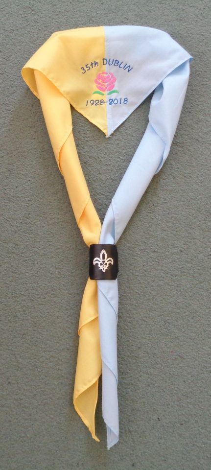 Neckerchief to mark the 90th Anniversary of 35th Dublin Donore Scouts Group