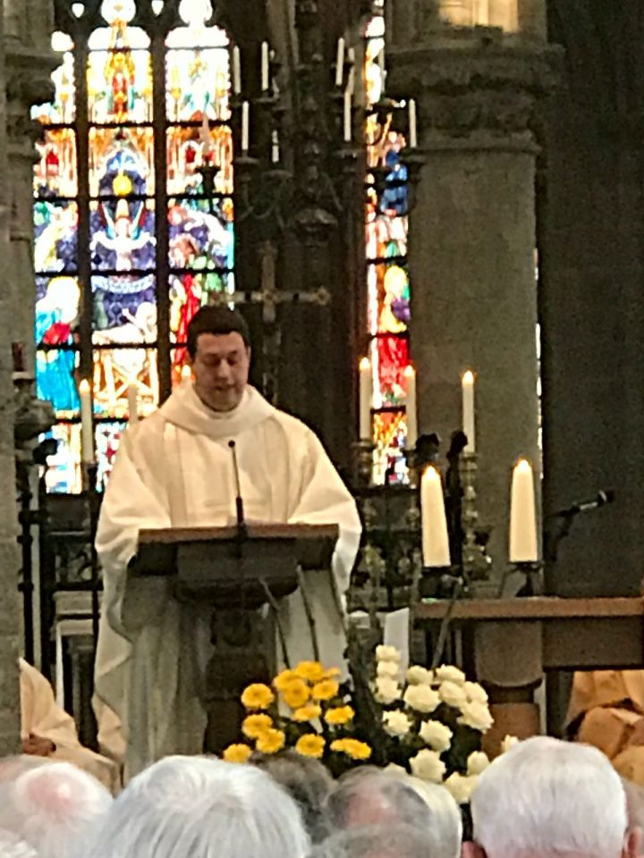 Fr. Tom Addresses the Congregation after his Ordination
