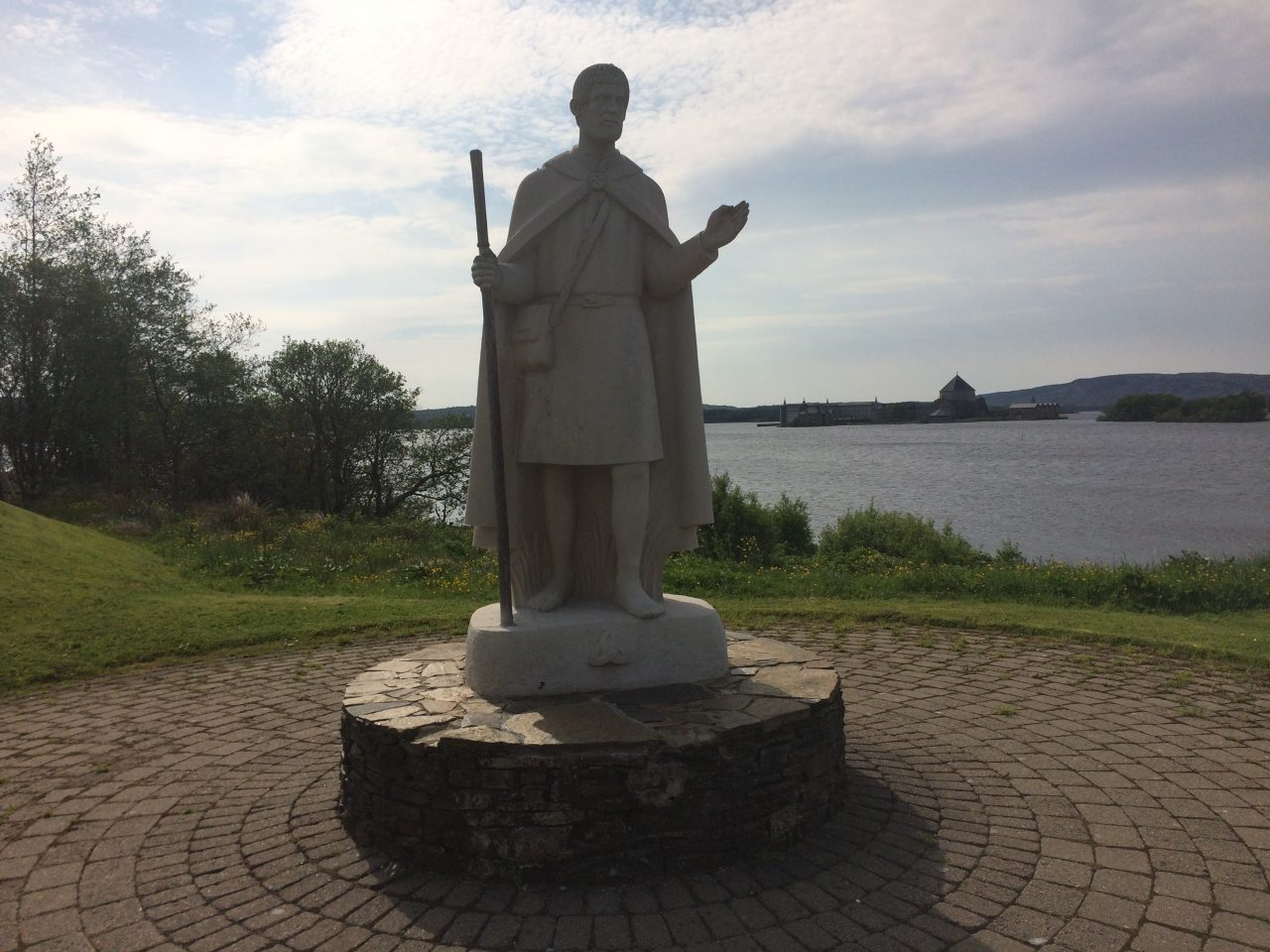 Statue of St. Patrick at Lough Derg