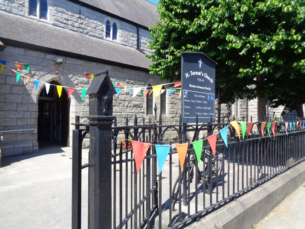 Donore Avenue Parish Church Decorated for Fr. Tom's First Mass