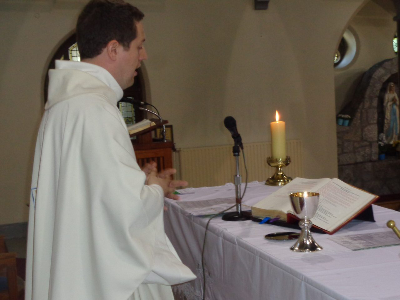 Fr. Tom Celebrates Mass with the Chalice given to him by his Parents