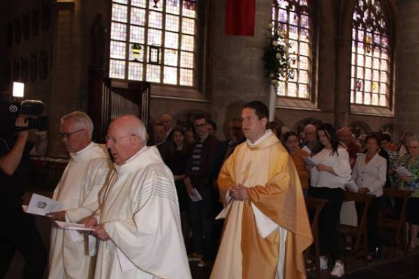 Fr. Tom in Procession before his First Mass in Hulst