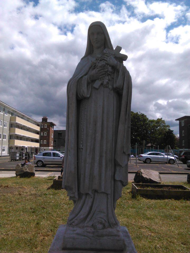 St. Teresa's Statue in St. Teresa's Gardens