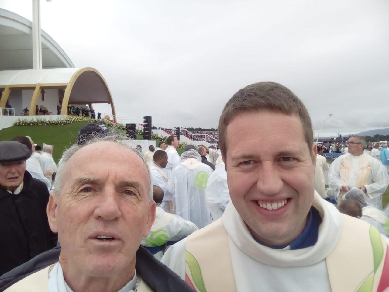 Frs John and Tom Concelebrate Mass with the Pope in the Phoenix Park on Sunday 26th August 2018