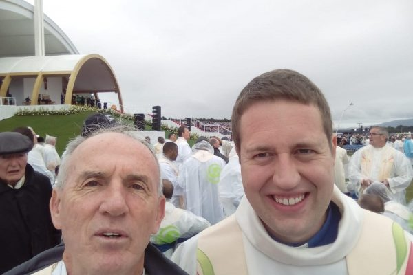 Fathers John and Tom at the Papal Mass in the Phoenix Park