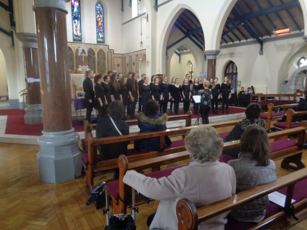 Choir from St Nicholas Catholic High School in Cheshire Giving a Recital