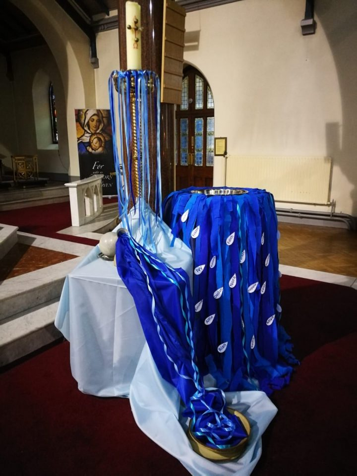 Baptismal Font for the Annual Mass for those Baptised in 2019